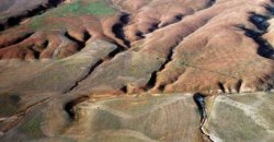 beheaded stream channels on the Carrizo Plain