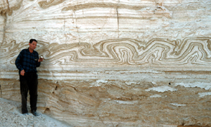 convolute lamination in Dead Sea evaporites
