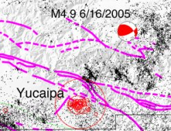 focal mechanism for 6/16/2005 M 4.9 Yucaipa event
