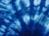 Blue tie-dye off-center burst