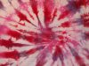 Pink, purple, and bright red tie-dye spiral