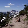 Loomis Peak, seen from the trail to Lassen Peak